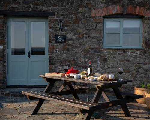 Rose Cottage - holiday cottage with heated pool in Bude, Cornwall, sleeps 8 + cot