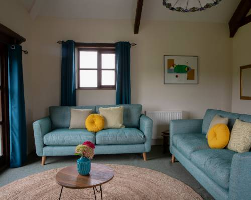 Rose Cottage lounge - holiday cottage with heated pool in Bude, Cornwall